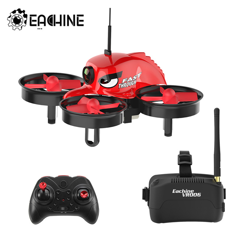 Eachine E013 Micro FPV RC Racing Quadcopter With 5.8G 1000TVL 40CH Camera VR006 VR-006 3 Inch Goggles VR Headset Helicopter Toy