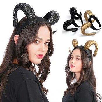 3 Style Devil Antelope Sheep Headband Hair Horn Hoop Headdress Cosplay Hairband