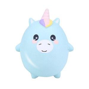 Kawaii unicon bola panda ovo gato squishy lento subindo pão perfume macio squeeze brinquedo alívio do estresse simulação diversão para o miúdo presente de natal