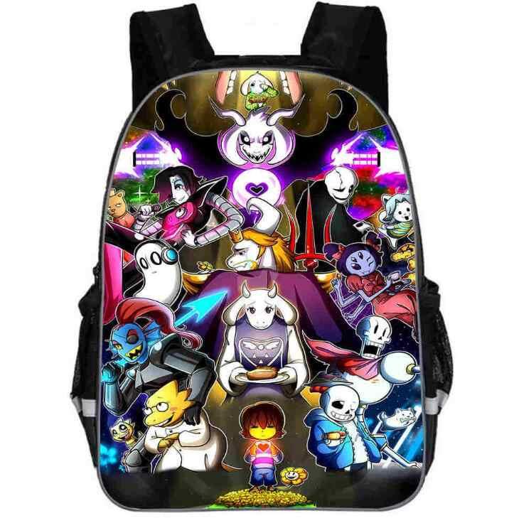 Undertale Sans Backpack Kids Student Boys Bookbag Handbag Travel School Bag Game