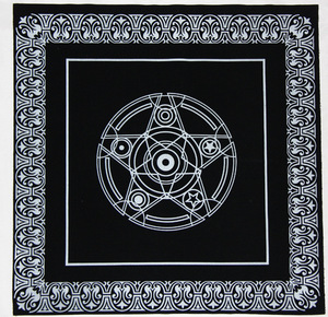 49*49 cm Tarot brand special black tablecloth non-woven material Divination tablecloth