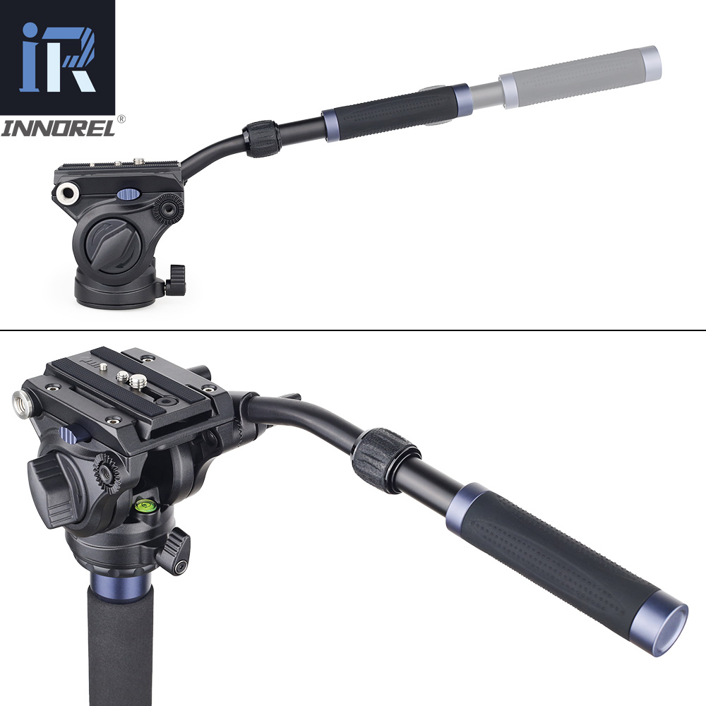 VM70K profesional Video Monopod Kit Unipod con cabezal fluido viaje trípode soporte para cámara DSLR videocámaras telescópicas Gopro - 4