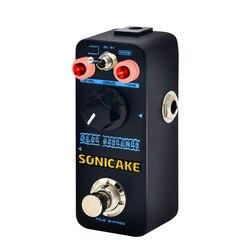 Sonicake verdadeiro bypass overdrive efeitos pedal de modo duplo com quente icônico ts estilo unidade som guitarra pedal QSS-02