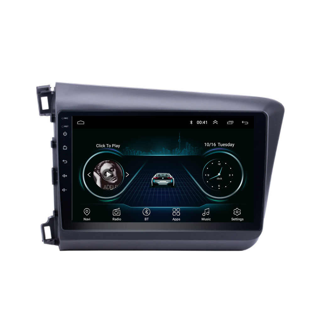 Quad core Android 8.1 Fit HONDA CIVIC 2012 2013 2014 2015 Multimedia Stereo Auto DVD Speler Navigatie GPS Radio