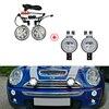 Przezroczyste soczewki pełna dioda Led Halo włącz światła sygnalizacyjne W/zderzak Mini światła rajdowe dla Mini Cooper R50 R52 R53 samochód stylizacji