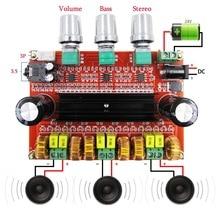 80W * 2 + 100W 2.1 kanałowy dźwięk cyfrowy płyta wzmacniacza subwoofera TPA3116D2 z NE5532 DC12 24V amplituner Stereo