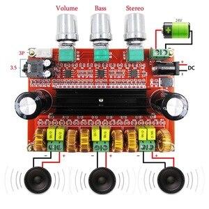 Image 1 - Placa amplificadora de áudio digital, 80 w * 2 + 100 w 2.1 channel digital subwoofer tpa3116d2 com ne5532 DC12 24V stereo amp amp amp
