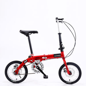 14-inch Foldable Ultra-lightweight Kids Bike Children Variable Speed Dual Brake Folding Bicycle For Student