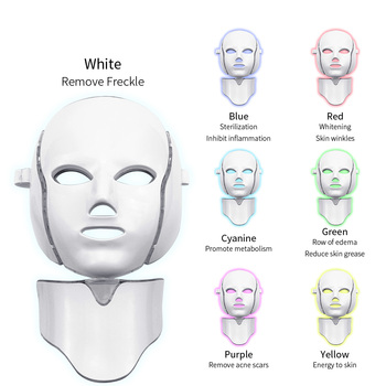FEITA LED Facial Mask Therapy 7 Colors Face Mask Machine Photon Therapy Light Skin Care Wrinkle Acne Removal Face Beauty