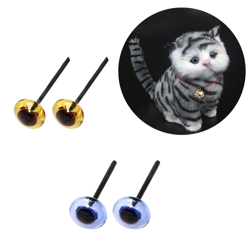 MIUSIE 3-6mm Black Plastic Crafts Safety Eyes Multiple Sizes For Teddy Bear Soft Toy Animal Cute Handmade Doll DIY Accessories