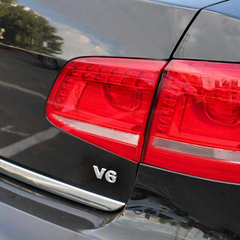 Logotipo do carro 3d adesivo emblema auto emblema decalque para v6 mercedes bmw audi ford fiesta mustang ranger nissan toyota honda estilo