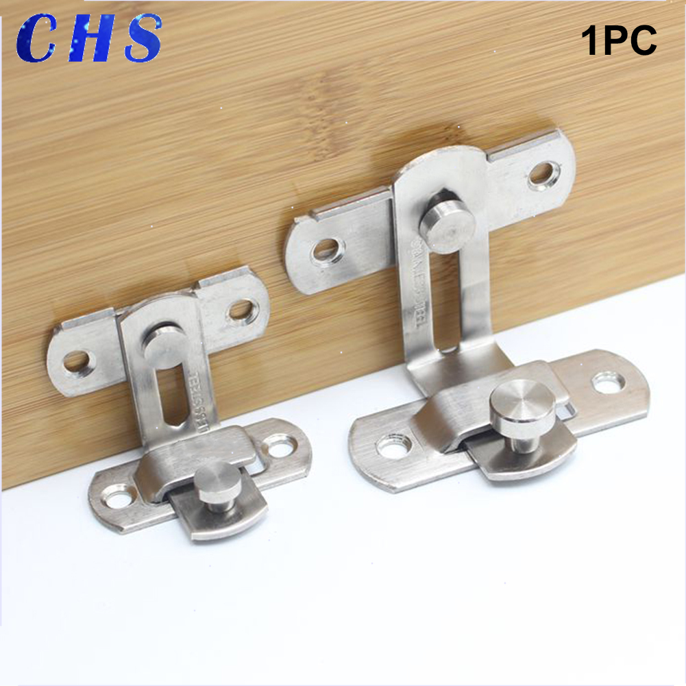 For Window Anti-theft Cabinet Fitting Hasp Latch Hotel Sliding 90 Degree Door Lock Stainless Steel Barrel Bolt Household