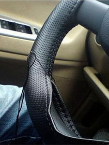 Car-Steering-Wheel-Cover Car-Accessories Auto with Braid on Needles And Thread Artificial