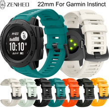 22mm Silicone replacement strap For Garmin Instinct frontier/classic smart watch wristband For Garmin Instinct bracelet soft silicone protective case for garmin instinct smart watch dial protection transparent watch case for garmin instinct watch