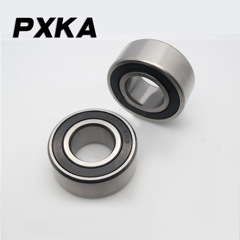 Free Shipping High Quality Double Row Angular Contact Rubber Cover Bearing 5200 5201 5202 5203 5204 5205 5206 2RS