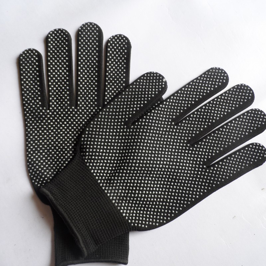 1Pair Work Gloves Non-slip Breathable Nylon Safety Protective Gloves With Dot Palm Coating For Garden, Warehouse Cycling