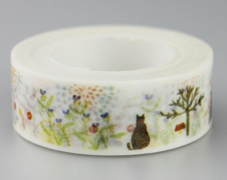 Cat Forest Washi Masking Tape(1piece)