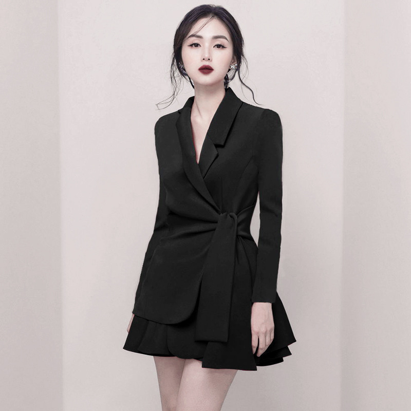 New Korea Design Woman Suit Skirt Set,OL Fashion Uniforms,Interviewer Host Formal Dresses.2PCS Blazer Skirt Set.