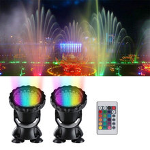 12V Submersible Pond Light Multi-Color Aquarium Spotlight for Garden Fountain Fish Tank RGB LED Lighting with Remote Controller(China)