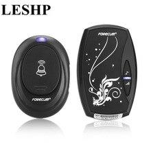 LESHP wireless Doorbell waterproof Door Bell with 36 chimes single receiver Plug