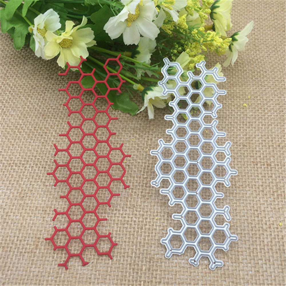 Honeycomb Metal Cutting Dies Stencil Scrapbooking Photo Album Card Paper Embossing Craft DIY Dies Cut
