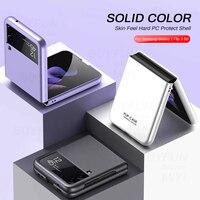 Funda de lujo para Samsung Galaxy Z Flip 3 Z Flip3 5G 2021, carcasa trasera de PC a prueba de golpes