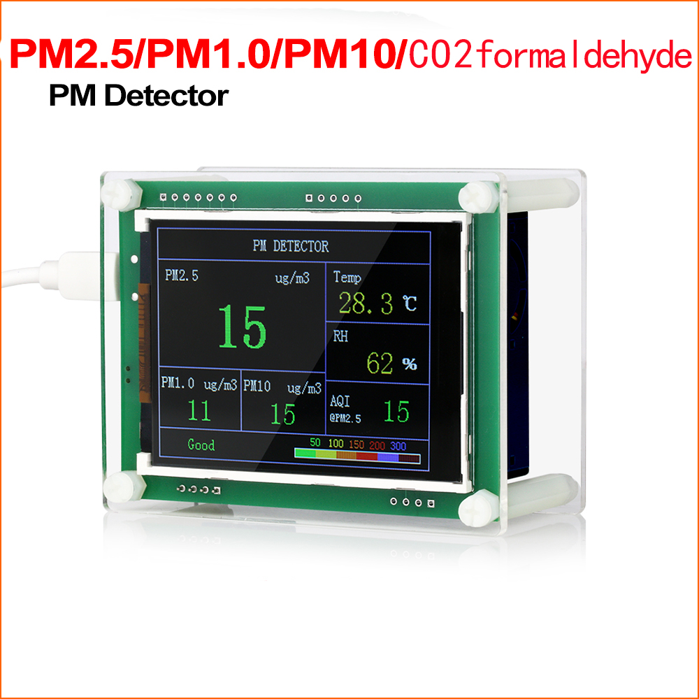 RZ 2.8 Car PM2.5 Detector Air Quality Monitor Tester Meter Home Gas Thermometer Analysis For Home Car Office Outdoors image