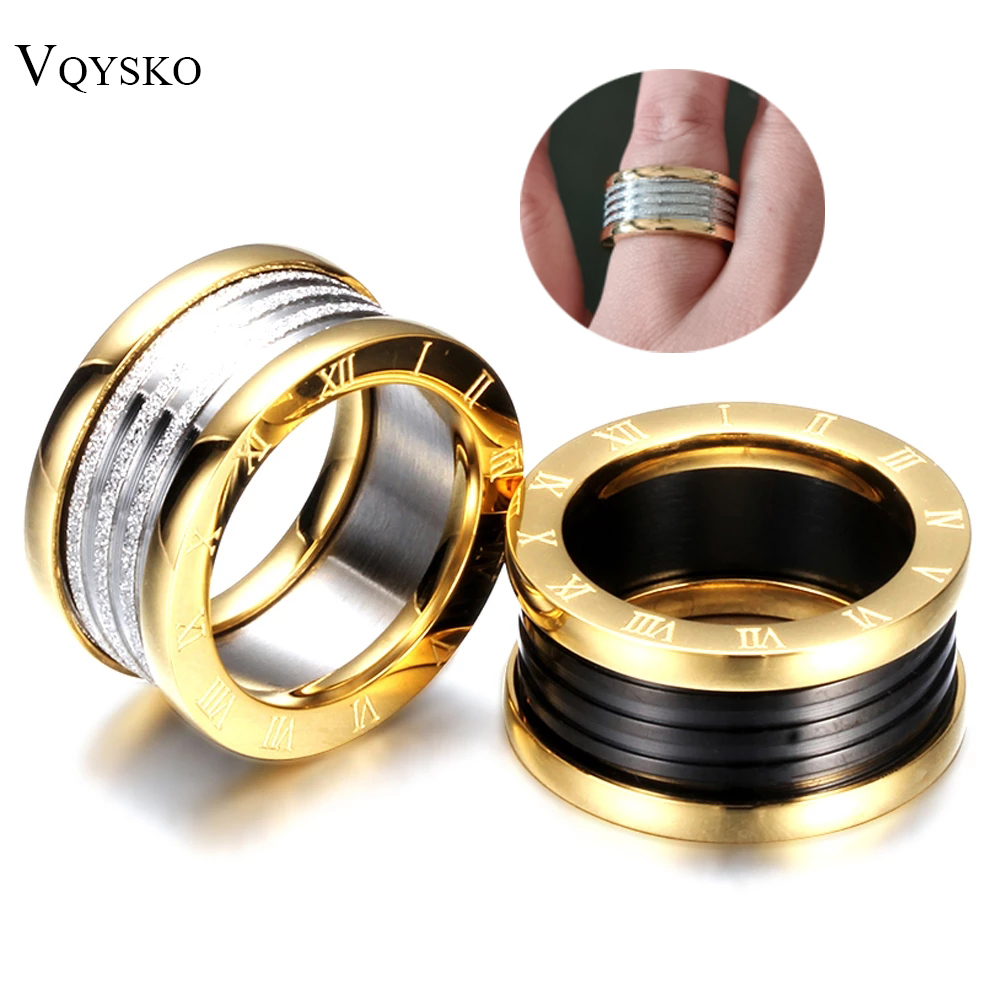 Antique Retro Stainless steel Roman numerals Rings For Women Men Jewelry Anillos Engagement Wedding Accessories Vintage