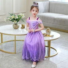 Хлопковые детские платья для девочек Повседневное платье принцессы
