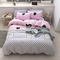 Cute Bedding Set Love Luxury Bedding Sets Twin Full Queen Size Bedding Set For Home