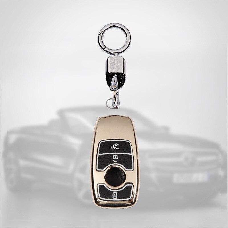Otomobiller ve Motosikletler'ten Araba için Anahtar Kılıfı'de Araba Anahtarı Durum Çinko alaşım Anahtar koruma kapağı MB E sınıfı Için S sınıfı E200L E300l S320L S350L Tüm her şey dahil ışık title=