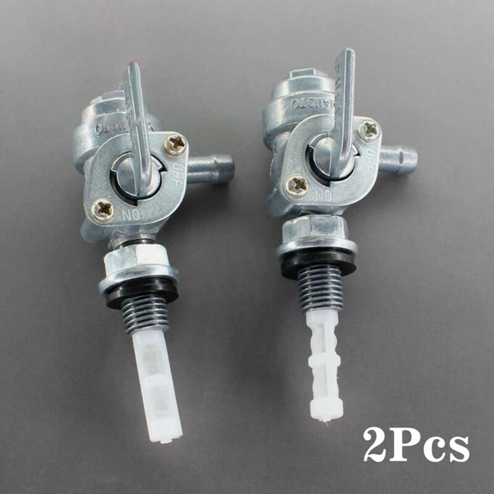 2 Pcs ON//OFF Shut-Off Valve Gas Fuel Tank Pump Petcock Switch Gasoline Generator
