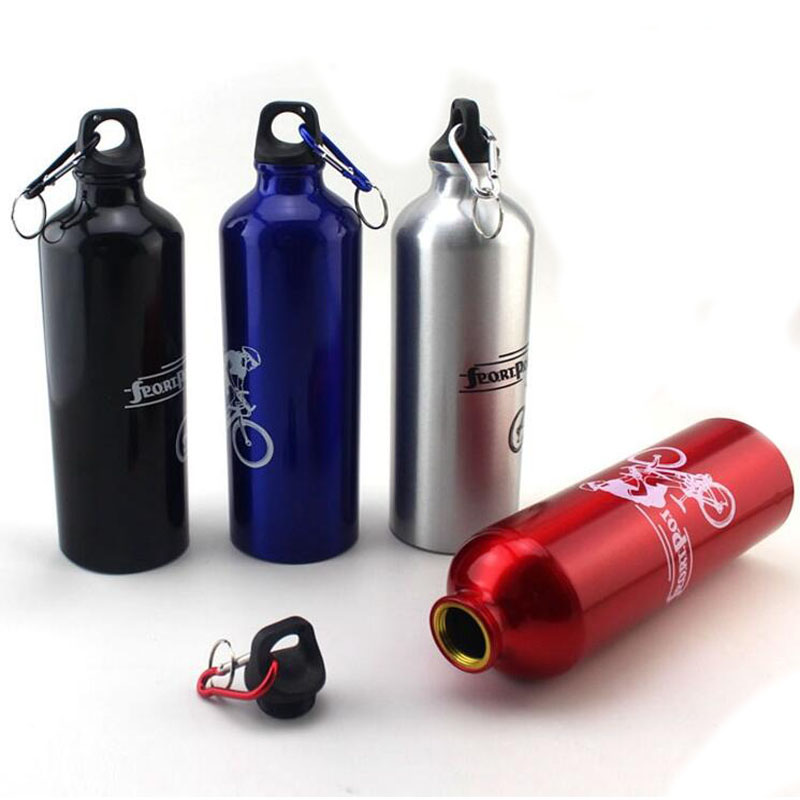 Water Bottle 500ML Bicycle Water Bottle Aluminum Alloy Bike Water Bottle Outdoor Sport Camping Hiking Waterbottle Ciclismo