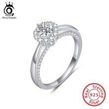ORSA JEWELS кольцо для женщин Мода 925 стерлингового серебра обручальные кольца, покрытые белым золотом из Элегантные Свадебные обручальные коль...