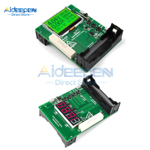 DC 5V-12V 18650 LED/LCD Display Battery Capacity Tester Module Digital Lithium Battery Capacity Tester Checkered Load Analyzer