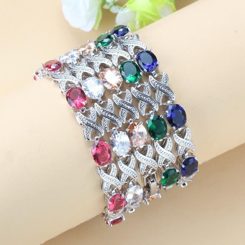 2020 модные ювелирные изделия из синего циркона серебряного цвета, многослойный браслет цепочка для женщин, бесплатная подарочная коробка NB03|bracelet usb flash drive|bracelet rubberbracelet player | АлиЭкспресс