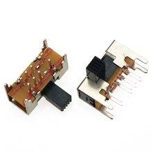 YuXi – panneau PCB 8 broches 3 positions 2P3T DP3T, bouton latéral coulissant, 0,5 a 50V DC SK23D05