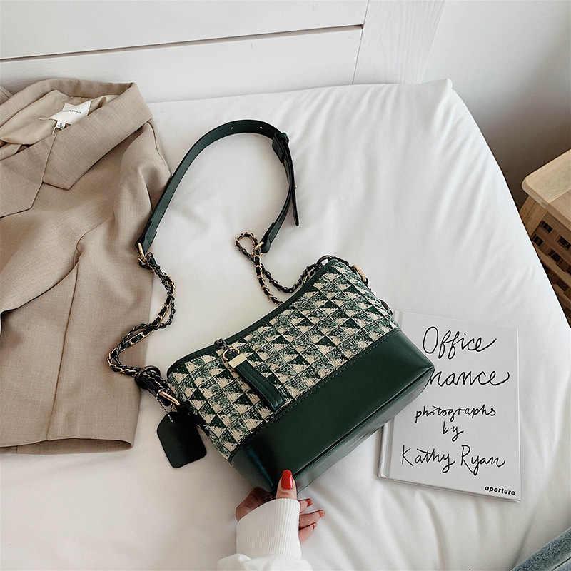 Сумка для женщин 2019, богемский стиль, Холщовая Сумка-мешок на шнурке, жемчужные сумки на плечо, женские сумки-мессенджеры, Bolsa Feminina Bolsos