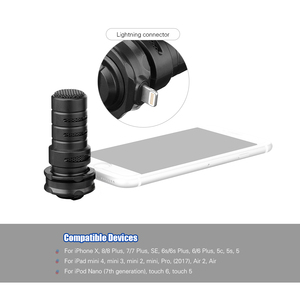Image 3 - BOYA BY DM200 Digital Stereo Cardioid Condenser Microphone Superb Sound for for iPhone iPad iPod Touch Devices Recording