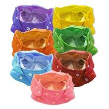 1 шт., одноцветные регулируемые размеры, моющиеся подгузники для новорожденных, многоразовые подгузники из ткани, детские ПУЛ Водонепроницаемый подгузник AIO для лета