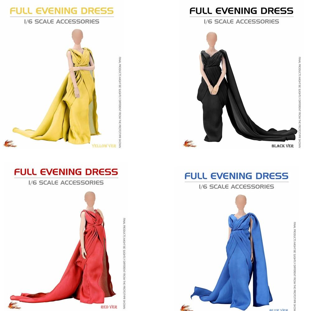 Coeur chaud VA03 1/6 femmes robe de soirée quatre couleurs F12''Action Figure corps jouets