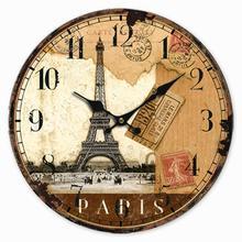 Стильный мини круглые Настенные часы старинный Античный стиль часы со стрелками для Спальня офисные Рождественский подарок на день рождения украшение дома