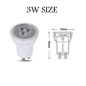 Image 2 - 10 sztuk żarówka led mini gu10 35mm reflektor 3W 220v 110v mr11 spot 120 kąt do salonu sypialnia lampa stołowa SMD oświetlenie wewnętrzne