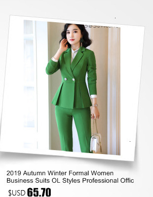 High Quality Fabric Spring Autumn Women Formal Business Suits OL Styles Professional Pantsuits Ladies Office Work Wear Blazers