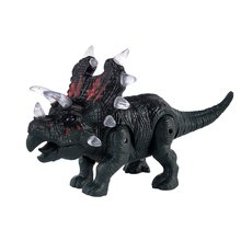 OCDAY Large Dinosaur Toy Light Sound Walking Simulation Electronic Triceratops D