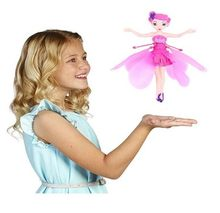 Induction Fairy Magical Princess Dolls infrared Light Suspension Flying doll toys mini RC drone Girl Children's Gift Figure Toys(China)