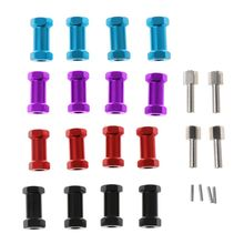цены Wheel Hex Hub 12mm 25mm Extension Adaptor x 4 Longer Combiner Coupler for 1/10 RC Crawler AXIAL SCX10 D90 CC01 RC Cars Parts