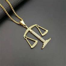 Подвеска libra balance колье «весы» модное Золотистое Ожерелье