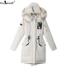 Winter New Long Thick Hooded Down Jacket Coat Women Cotton S