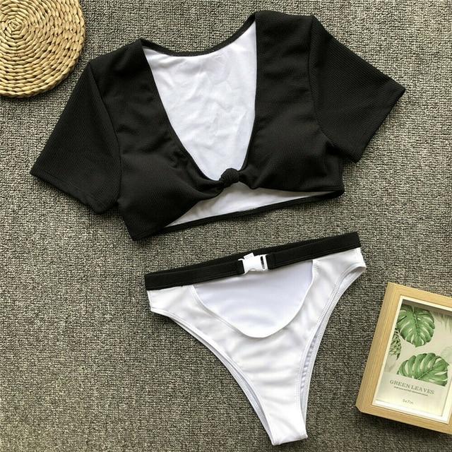 Swimsuit Women Bikini Set High Waist Bathing Suit Ladies Beachwear Biquinis Feminino 2019 Bathing Suit Women Swimming Suit 10